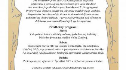Lezecké dni SRT v Slovenskom krase 2019