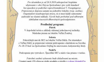 SRT, jednolanová technika, lezenie,, Pozvánka – Lezecké dni SRT v Slovenskom krase 2019