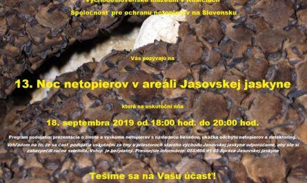 13. Noc netopierov v Jasovskej jaskyni